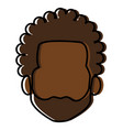 young black man head avatar character vector image vector image