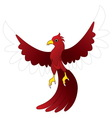 character red bird vector image