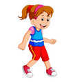 little girl dancing alone vector image