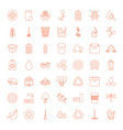 49 environment icons vector image vector image