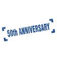 50th anniversary stamp square grunge sign