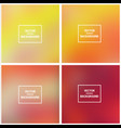 abstract blurred backgrounds vector image vector image