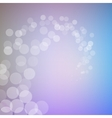 Abstract bokeh sparkles swirl on blurred vector image vector image