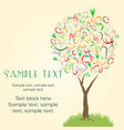 abstract tree made of colorful vegetables vector image