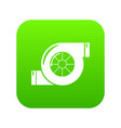 air filter icon green vector image vector image