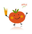 apple funny character for your design vector image vector image