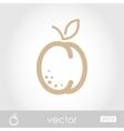 Apricot icon vector image