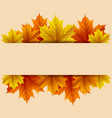 autumn leaves with blank rectangle vector image vector image