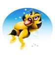 baby bee 2 vector image vector image