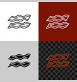 bacon line icon stripe lines bacon symbol vector image vector image