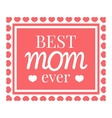 Best mom card icon cartoon style vector image vector image