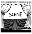 black and white doodle sketch ink drawing of scene vector image vector image