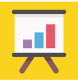 Business Growing Graph Presentation Icon vector image