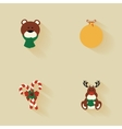Cartoon Christmas Objects vector image vector image