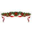 celebratory christmas garland vector image