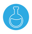 chemical flask laboratory vector image vector image