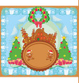 christmas card with a ginger-bread and funny vector image