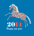 Christmas card with horse vector image vector image
