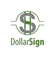 circle dollar sign logo concept design symbol vector image vector image