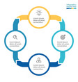 Circular infographics Business diagram with 4 vector image
