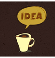 Coffee cup with idea word vector