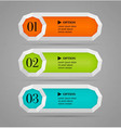 Colorful options banner or buttons vector image vector image