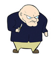 comic cartoon evil man vector image vector image