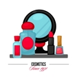 Cosmetics and fashion make up objects vector image