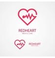 design logo combination a heart and pulse vector image