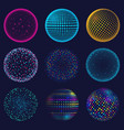 dotted neon 3d sphere abstract atomic vector image