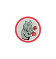 Elephant Boxer Boxing Circle Cartoon vector image vector image