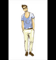 fashion man fashion man in vector image vector image