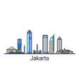 flat line jakarta banner vector image vector image