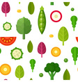Flat vegetables seamless pattern vector image vector image