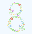 floral figure 8 with vintage amazing flowers vector image vector image