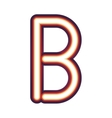 Glowing neon letter B vector image
