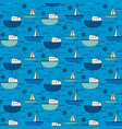 hand drawn fishing boat pattern background vector image vector image