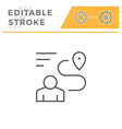 human navigation editable stroke line icon vector image vector image