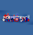 independence day background with special objects vector image