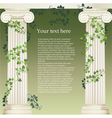 Ionic columns vector image vector image