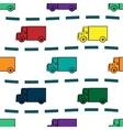 Kids trucks retro background seamless pattern vector image