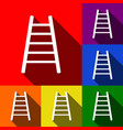 ladder sign set of icons vector image
