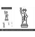 liberty statue line icon vector image