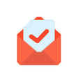 mail symbol envelope icon success envelope vector image