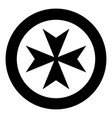 maltese cross icon black color simple image vector image vector image