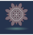 Mandala motif with copyspace and shadow in the vector image vector image