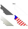 Mono County California outline map set vector image vector image