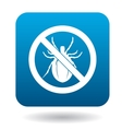 No bug sign icon simple style vector image vector image