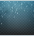 rain isolated on a transparent vector image vector image