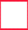red and white square frame made animal paw vector image vector image